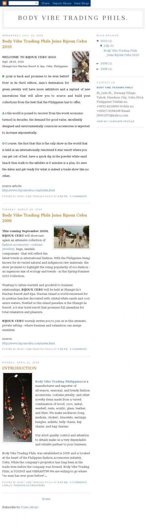 Body Vibe Trading Phils.