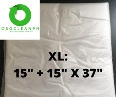 "XL Biodegradable Clear Trash Bag (15"" + 15"" x 37"")"