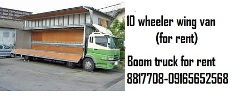 10 Wheeler Wing Van Truck For Rent Boom Truck For Hire
