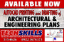 Autocad Drafting & Printing of Architectural & Engineering plans