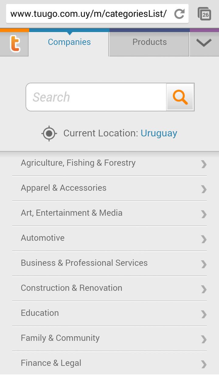 categories list