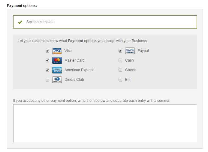 Offices Payment options